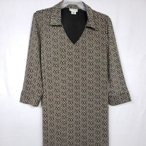 Motherhood Maternity Dresses - Motherhood Maternity 3/4 Sleeve Shift Dress Sz Lg